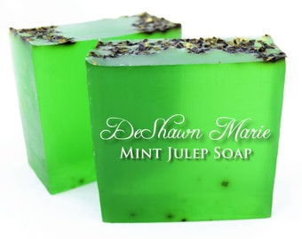 SALE SOAP - 3 lb. Spearmint (Mint Julep) Vegan Handmade Soap Loaf, Wholesale Soap Loaves, Wedding Favors