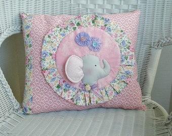 Emma Elephant Pillow Pink Circus Elephant Decoration Tilda Elephant Pillow