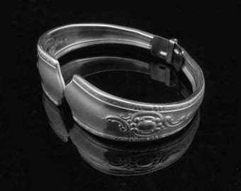 Ornate Spoon Bracelet, Eco Friendly Jewelry, Recycled Bracelet, Maytime MEDIUM fits 6-7 inch wrist