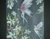 fantasy glitter art SFA aceo painting. ref 246