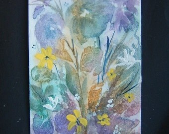 aceo art painting floral watercolour fantasy ref 331