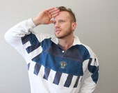 Vintage 80s Stripe Sweatshirt Flying with Stay Tuned Valor Air Force
