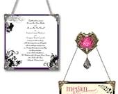 4 Custom Wedding Invitation Wall Pendants