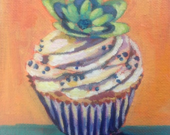 Mini cupcake painting