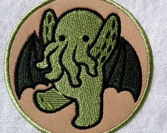"""Too Cute Cthulhu Iron on Patch 4.3"""""""