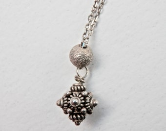Etruscan Silver Necklace Pendant Silver Etruscan Necklace Ethnic Pendant Stocking Stuffer