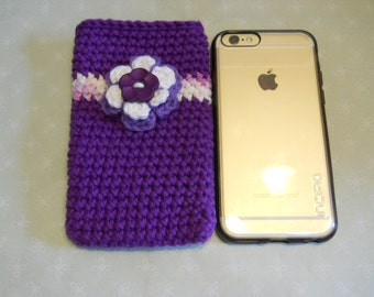 Cell Phone Case, Apple I Phone Case, Cell Phone Accessories, Cell Phone Protector, Crochet Phone Case, Handmade Phone Sleeve, Birthday Gift