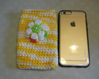 Cell Phone Case, I Phone Case, Cell Phone Cover, Phone Protector, Crochet Phone Sleeve, Handmade Gift for I Phone, Birthday Gift
