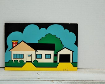 Vintage 1960's Advertising, Comic, Art, Presentation Materials, House