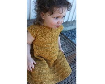 Raiin Baby Dress PDF pattern newborn, 3, 6, 9, 12, 18 months 2t 3t 4 5