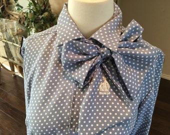 Vintage Lanvin belted Secretary Dress size 8 10