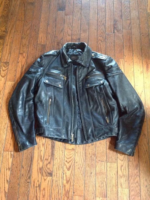 Vintage Harley Davidson Leather Jacket Motorcycle Coat