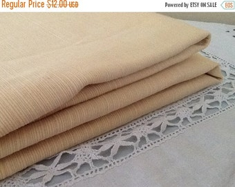 Fall Sale Vintage Tablecloth / Yellow Table Cloth / Farm Table / Large Tablecloth / Thanksgiving Tablecloth