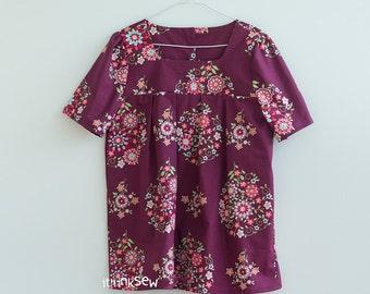 1043 Esme Women Tunic Blouse PDF Pattern