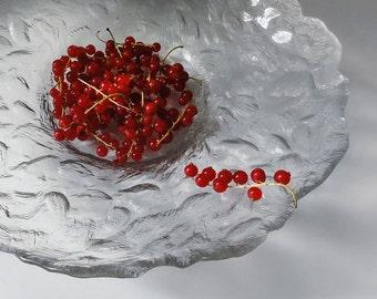 Vintage Art Glass Bowl Pertti Kallioinen Riihimäki