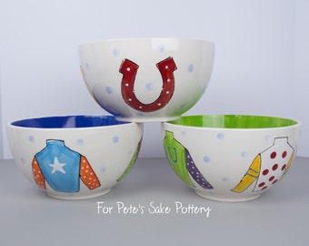 Derby theme bowl