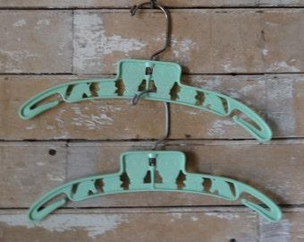 Vintage Plastic Children's Hangers Humpty Dumpty  Set of 2