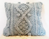 KNITTING PATTERN for chunky cable knit cushion cover