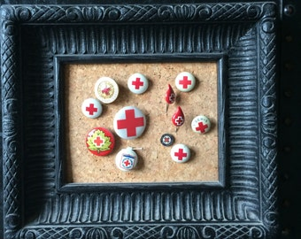 Vintage Red Cross Pins Instant collection