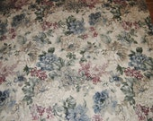 Floral Upholstery, Drapery Fabric, Neutral Colors, 2 Yards