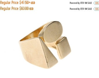 Valentine Day sale 20% Geometric Ring | Triangle Ring | Sqaure Ring | 14k Gold Plated Ring | Statement Ring | Geometric Jewelry