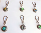 Key Chain Vintage Marble / Lost Your Marbles / Marble Memories / Vintage Marble Keyholder / Old Marble Key Ring