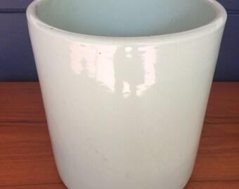 Vintage Light Green Gainey Ceramic Planter