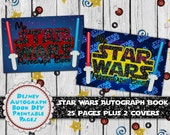 Star Wars Autograph Album - Disney Autograph Pages - Kylo Ren - Star Wars Vacation - Vacation Autograph Album