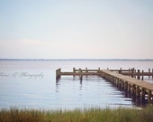 """Fine Art Photograph """"The Dock In The Bay"""" Ocean Marine Nautical Beach Cottage Decor Rose Quartz Serenity Small Gift Wall Minimalist Tranquil"""
