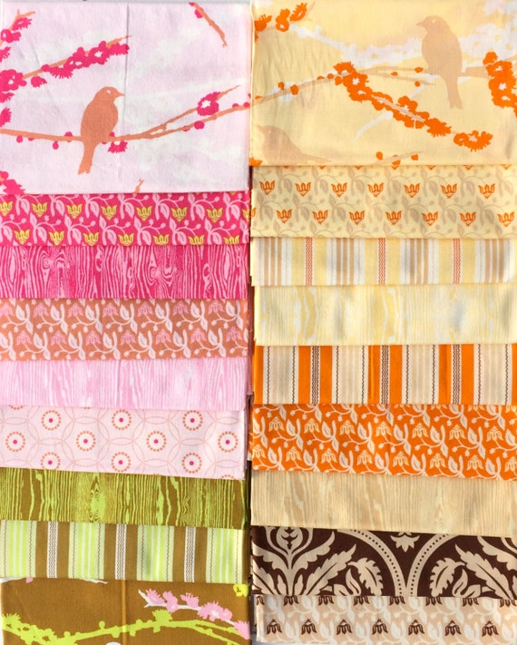 Priced to Sell : Aviary Joel Dewberry Westminster fabric 18 FQ set  *PLEASE read