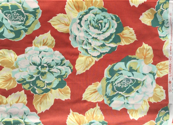 Urban Chiks Blossom Heirloom terra cotta shy half yard
