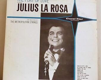 "Vintage Jazz Vinyl Record, 1959, ""The Port of Love"" Julius La Rosa G1404 Guest Star Records"