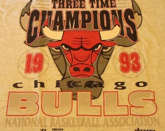1993  official Chicago Bulls championship T-shirt. Never worn.  Michael Jordan era