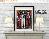 50% Off- Mexican Folk Art - Mexican Angel Folk Art Art  Art Print Poster by Heather Galler (HG646)