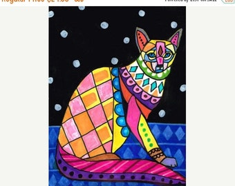 55% Off- Balinese Cat Art  Poster Print of  Painting  by Heather Galler (HG153)
