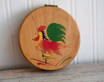 Vintage Wood Hamburger Press, Dutch Style Burger Press, Roosters Kitchen Decor, Grilling Gifts, Mid Century Home,  Patty Maker, For Him Dad