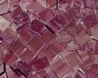 """100 1/2"""" Light Purple Stained Glass Mosaic Tiles"""