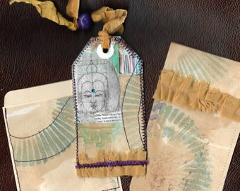 Buddha gift tag & pocket set for junk journal, scrapbooks, planners, journals, paper and craft supplies