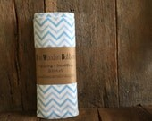 Receiving Blanket / Set of Two, Blue Chevron