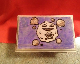 Koffing!  Koffing Inspired Wood Burned Jewelry Box