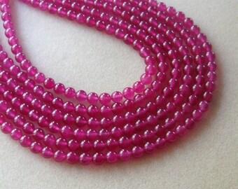 Jade Beads, Gemstone Beads, Dark Pink Jade, Jewelry Design, Jewelry Making Beads, Craft Supply, Jade Gemstone, Dark Pink Beads, Round Beads