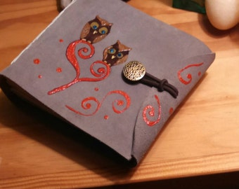 Travel sketch leather journal