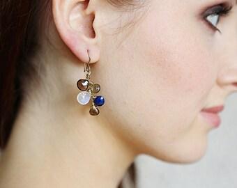 5 Stone Briolette Earrings
