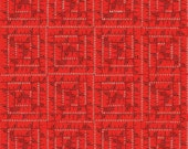 Sewing Themed Fabric - Sewing Seeds II Fabric - Janet Wecker Frisch Quilting Fabric - Red Tape Measure Fabric By The 1/2 Yard