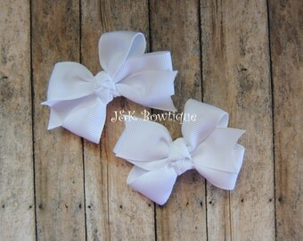 White Classic bows