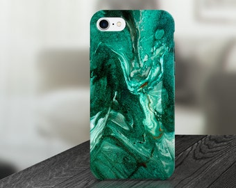 Green Marble Abstract Cell Phone Case -  IPHONE 6, 6S, 6 Plus, 6S Plus / Samsung Galaxy S6 Edge, S6, S7 -made to order