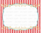 "Printable DiY Vintage Circus BLANK sign - 11"" x 14"" INSTANT DOWNLOAD"