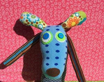 OOAK ramone handmade recycled stuffed animal