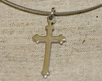 Sterling Pendant | Solid Silver Pendant | Unisex Pendant | Cross Pendant | Silver Cross Necklace |  Stainless Steel Necklace