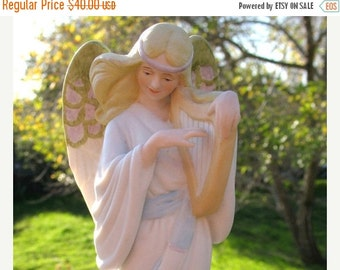 Ethereal Enesco Silent Night Angel Music Box In Mint Condition Circa 1987 By Artist  Betty Chaisson